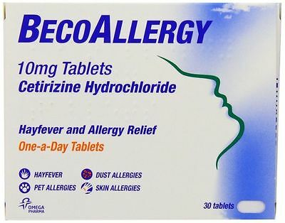 Beconase BecoAllergy Tablets - 10 mg - Pack of 30 Tablets