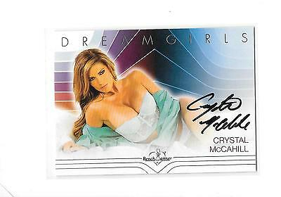 2017 Benchwarmer Dreamgirls Crystal McCahill Silver Foil Auto Autograph