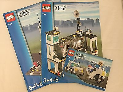 Lego City Instruction Manuals Only Police Headquarters 1345678
