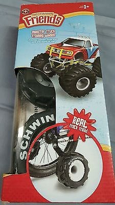 "SCHWINN MONSTER TRUCK TRAINING WHEELS AGES 3+ RECOMMENDED 16"" to 20"" NEW"