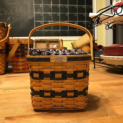 Longaberger J.W. Collection - Miniature 1999 Edition Two Pie Basket