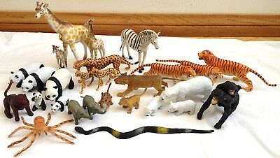 Vintage Jungle Animals Tiger Cheetah Giraffe Lion Panda Chimps Elephants & More
