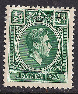 Jamaica 1938 Kgv1 1/2 Blue Green Mm Stamps Sg 121.(C569 )
