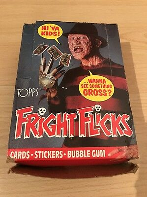 Fright Flicks Complete Box Of Trading Cards 1988!!!