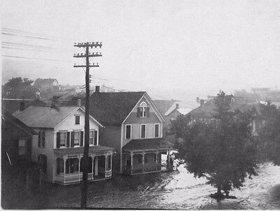 Vtg 1940 - 1950's (Santa Cruz?) California City Flood Flooding Disaster Photo #3