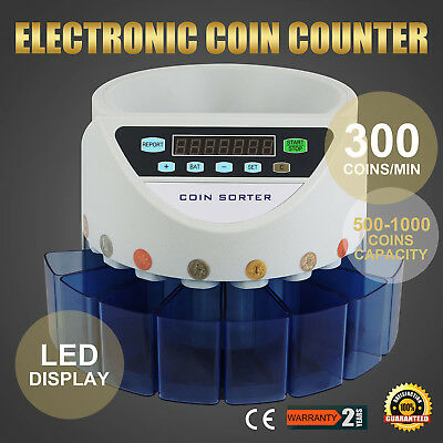 Uk Gbp Coin Counter Sorter Protable Led Display Cash Currency Creditable Seller