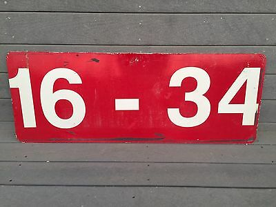 """Cool Vintage Metal Aviation Airport Runway Sign == Man Cave Decor +/- 48"""" x 18"""""""