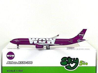 SKY500 WOW Air Airbus A330-300 1:500 Registration TF-WOW (0837)