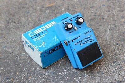 1982 Boss CS-1 Compression Sustainer MIJ Japan Vintage Effects Pedal w/Box