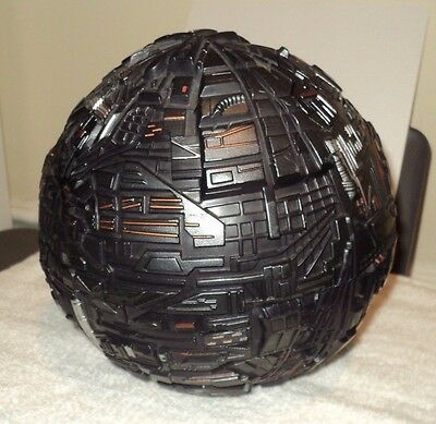 STAR TREK Next Generation Battle Damage Borg Sphere (1996, Playmates) Works!!