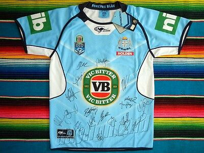 ✺Signed✺ 2017 NSW STATE OF ORIGIN NRL Jersey PROOF COA New South Wales