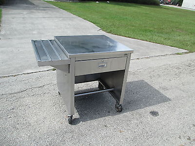 "Portable Food Buffet Deli Counter 30"" Stainless Steel Top 10"" side tray & Draw"