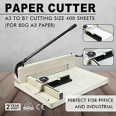 """17"""" 43.2cm Paper Cutter A3 To B7 Guillotine Page Trimmer Knife 800 Sheets Size"""