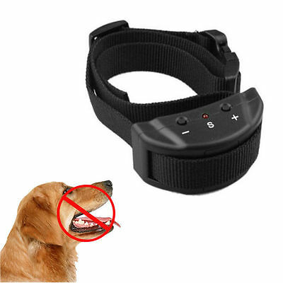 Electric Remote Control Anti Bark Collar No Shock Pet Dog Training Ultrasonic RF
