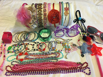 Mixed Girls Accessories Lot Bracelets Necklaces Hair Bands Sunglasses