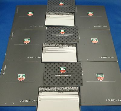 LOT 6 Tag Heuer Watch USA Warranty International Guarantee Booklet and Card Sets