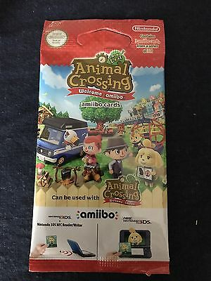 ANIMAL CROSSING NEW LEAF WELCOME AMIIBO CARDS SERIES 5 - 1 x PACKET OF 3 CARDS