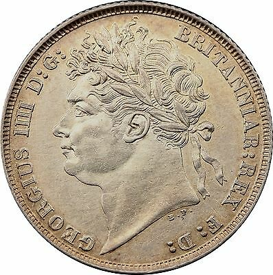 1821 ONE SILVER SHILLING COIN KING GEORGE IIII Milled (1816-1837)