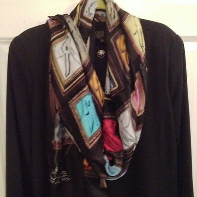 "Maternity Blazer Suit Jacket Black Crewneck Size L Fits up to waist 55"" Stunning"