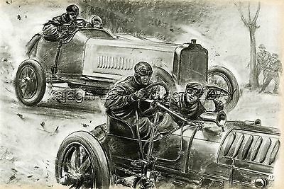 Wolseley & Opel (1904) Gordon Bennet Cup Race, Auto Racing 1950s Print