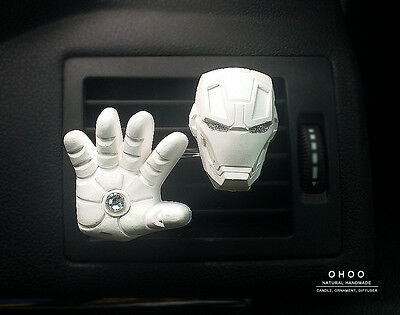 *Iron man  Car Vent clip* PLASTER AIR FRESHENERS Air Freshener Scent