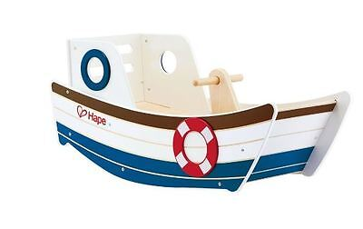 Brand New Hape Wooden Rocking Boat  Ride On Baby Infant Toy