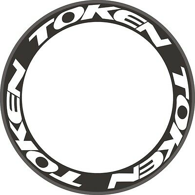 12pcs TOKEN Carbon Wheel Rim Decals Stickers Kit For Bike Cycle Push 700C 2RIMS