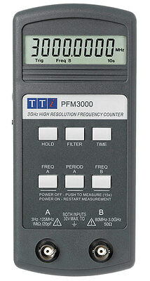 Thurlby Thandar Instruments  PFM 3000 Frequency Meter + extras