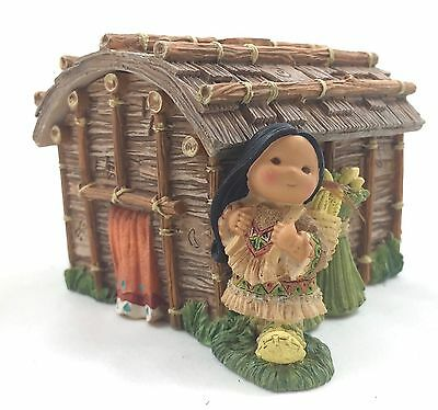 Northeastern Longhouse Covered Box with Mini Figurine by Friends of the Feath...