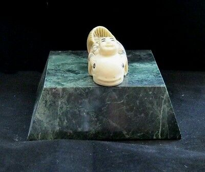 'NETSUKE' HAND PAINTED HAND FINISHED man made Ivory substitute (#7)