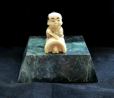 'NETSUKE' HAND PAINTED HAND FINISHED man made Ivory substitute (#1)