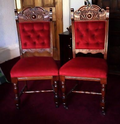 Pair of striking Edwardian Hall Chairs