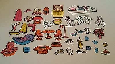 Vintage Barbie Doll Dream House Colorforms Play Set Furniture & Accessories 1979