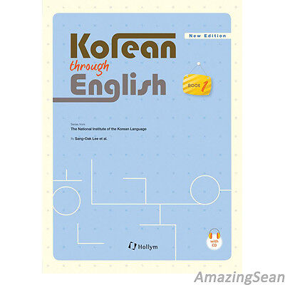 Korean Through English 1 with MP3 CD Learn Korea Text Book Educational BO24