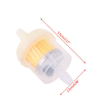 10x 4/25'' 4mm Hose Motorcycle Scooter Gasoline Filter Clear Inline Gas Fuel New