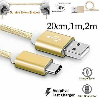 Type-C strong braided fast data sync charger cable Samsung Galaxy s8 s8+ Plus