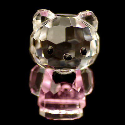 Mini Cat pink Hello Kitty Austrian crystal figurine ornament sculpture RRP$79