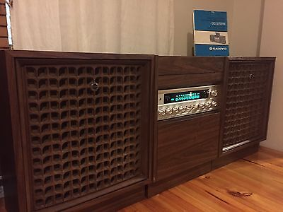SANYO Stereo System Radio And Record Player Working 1970's
