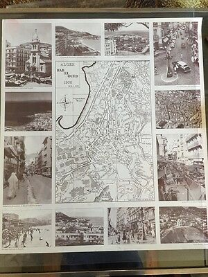 Alger Bab El Oued 1956 / Photos Plan Poster / Algerie / Independance