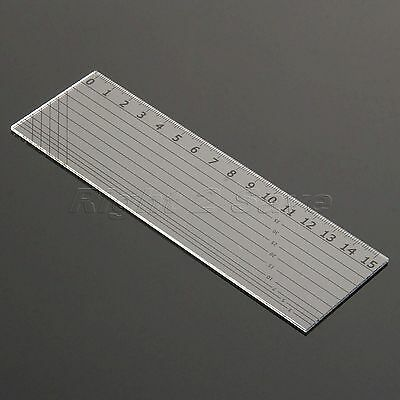 15x5cm Sewing Quilting Patchwork Ruler Easy Mark Grid Cutting Tool Tailor Scale