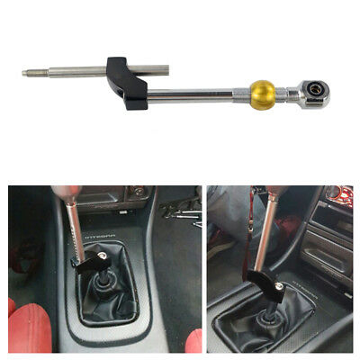 Adjustable Height Dual Bend Stainless Steel Short Shifter For Honda Civic B&D
