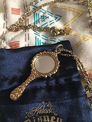 Official 14ct Gold Plated Snow White Mirror Charm Necklace from Disney Couture