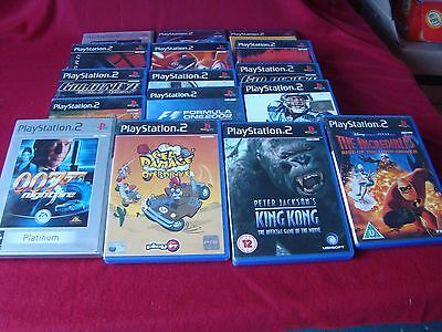 Job Lot Collection of 15 Sony PlayStation, PS2 Games