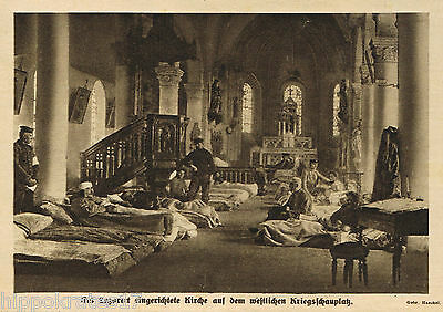 Westfront Lazarett in Kirche  1915 WW1 hospital church western front (20)