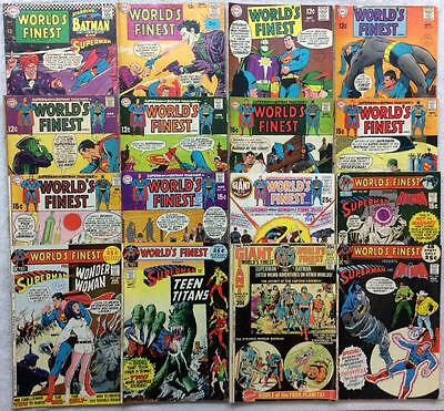 MASSIVE COLLECTION WORLD'S FINEST 30 X issues #160 - #241 (1966-1976) 1st series