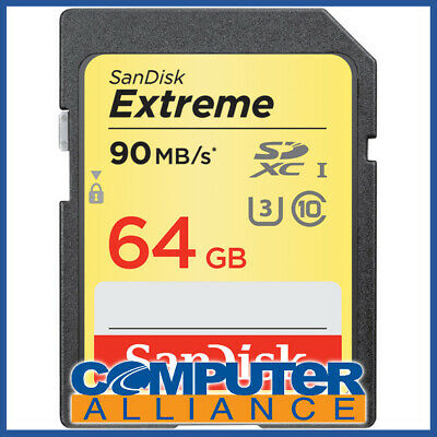 64GB Sandisk Class 10 Ultra Secure Digital (SDXC) Memory Card PN SDSDXVE-064G-GN