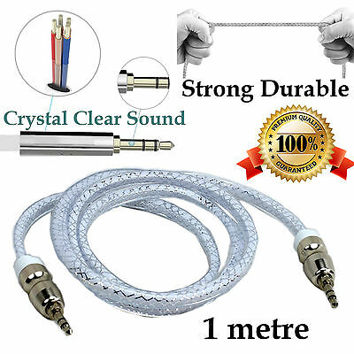 1m Durable AUX Auxiliary Cable 3.5mm Male to Male Stereo Audio Input Car Cord