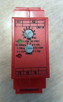 FOXTAM UNI-1A Din rail modular multi voltage multi time delay on timers