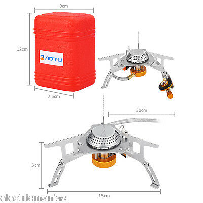 Portable Gas Stove Burner Outdoor Picnic Gas Jet Cooking Hiking Camping Cooker