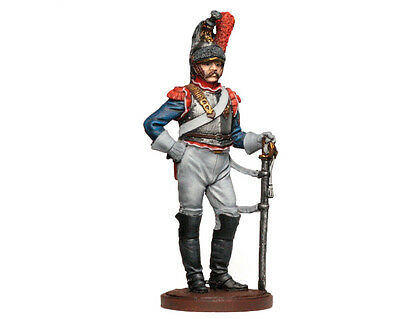 Tin Soldier - French cuirassier (Napoleonic Wars) pewter figurine 54 mm